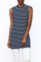 Private Label Navy Tunic Top
