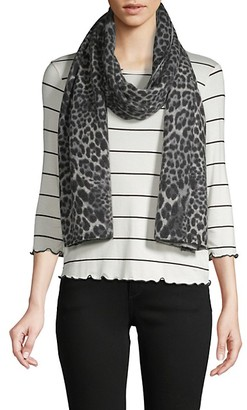 Amicale Animal-Print Cashmere Scarf