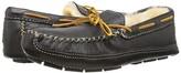 Minnetonka Sheepskin Lined Moose Slipper (Black Moose) Men's Moccasin Shoes