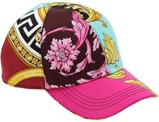 Versace Printed Satin Baseball Hat