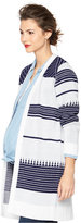 A Pea in the Pod Maternity Printed Open-Front Cardigan