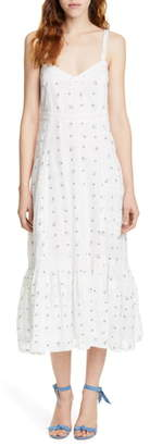 LoveShackFancy Edith Print Cotton Midi Sundress