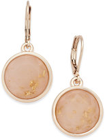 Charter Club Rose Gold-Tone Pink Stone Drop Earrings, Only at Macy's
