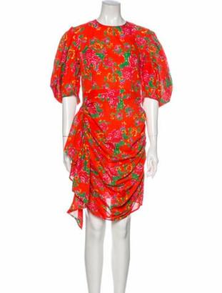 Rhode Resort Floral Print Mini Dress Red Floral Print Mini Dress