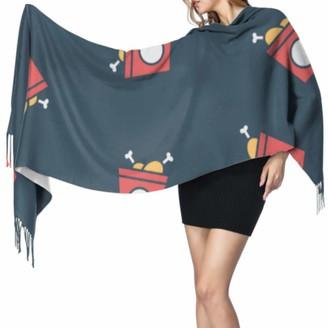 Yushg Delicious Tempting Food Chicken Leg Shawls And Wraps Fashion Scarf Women Fringed Scarf 77x27inch/196x68cm Large Soft Pashmina Extra Warm