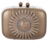 Kotur Snakeskin Embellished Box Clutch