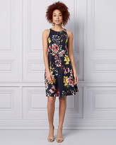 Le Château Floral Print Scuba Knit Fit & Flare Dress