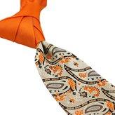 Coachella Ties Solid Color Knot Contrast Paisley Tie Patchwork Necktie 8.5cm