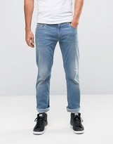 Love Moschino Slim Fit Back Pocket Print Jeans