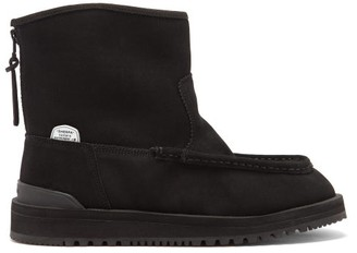 Suicoke Russ Suede & Shearling Boots - Black