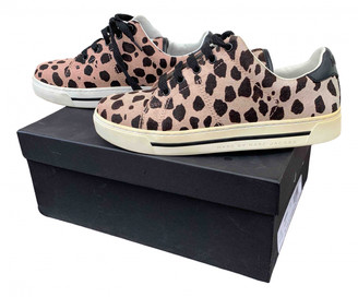 Marc by Marc Jacobs Pink Leather Trainers