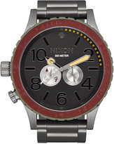 Nixon Men's Gunmetal-Tone Stainless Steel Bracelet Watch 51mm A172SW-2241-00
