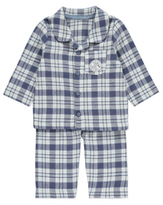 Disney George Winnie the Pooh Woven Pyjama Shirt and Bottoms