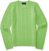 Ralph Lauren 7-16 Cable-Knit Cashmere Sweater