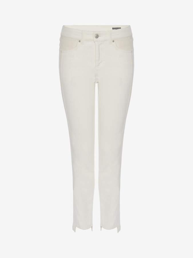 Alexander McQueen Paneled Denim Pants
