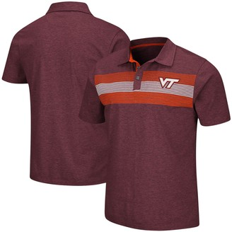 Colosseum Men's Maroon Virginia Tech Hokies Logan Polo