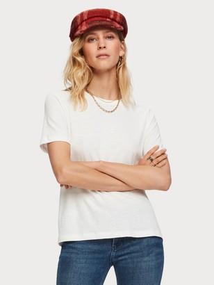 Scotch & Soda Short Sleeved Linen Blend T-Shirt