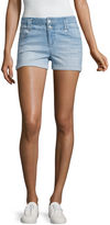 Blue Spice High-Rise Denim Shorts-Juniors