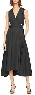 3.1 Phillip Lim Cotton Poplin V Neck Dress