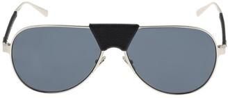 Salvatore Ferragamo Metal Sunglasses W/ Leather