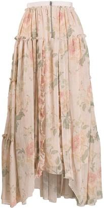 Coach Handkerchief Hem Midi Skirt