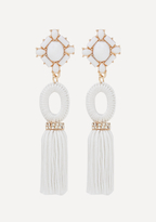 Bebe Stone & Tassel Earrings
