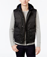 Armani Exchange Men's Quilted Puffer Vest with Hood