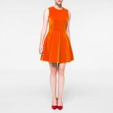 Paul Smith Women's Burnt Orange Velvet Mini-Dress