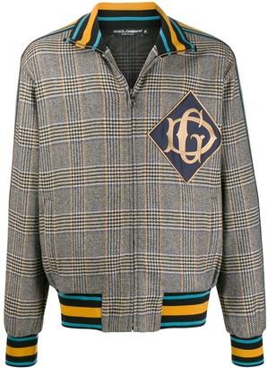 Dolce & Gabbana check print zip up jacket