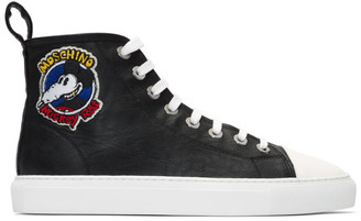 Moschino Black Mickey Rat High-Top Sneakers