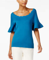 NY Collection Flared-Sleeve Top