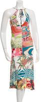 Just Cavalli Printed Halter Dress