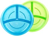 Nuby Embossed Sectioned Plate - Assorted Colors/Styles - 2 ct