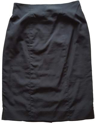 Saint Laurent Black Cotton Skirts