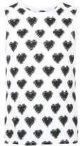 Facetasm heart print tank top