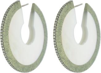 Arunashi Small Mother of Pearl Circular Earrings