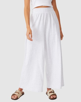 Cotton On Women's White Sweatpants - Wide Leg Lounge Track Pants - Size XS at The Iconic