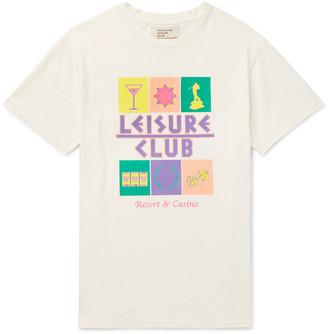 Pasadena Leisure Club Logo-Print Cotton-Jersey T-Shirt
