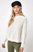 La Hearts Shaker Stitch Pullover Sweater