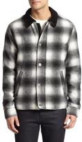 Madison Supply Ombre Plaid Wool Jacket