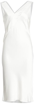 Helmut Lang Tuxedo Sleeveless Sheath Dress