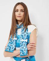 BRIGITE Blue Beauty skinny scarf