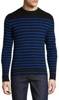 Diesel Black Gold Kasaty Cotton Striped Sweater