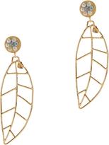 Mercedes Salazar Feville Leaf Earrings