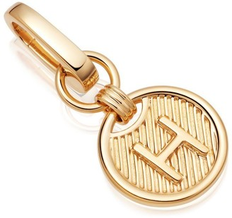 Missoma Gold H Clip-On Initial Pendant