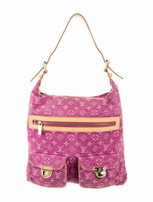 Louis Vuitton Monogram Denim Baggy GM Pink