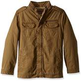 Levi's Men's Big and Tall Washed Cotton Two Pocket Sherpa Military Jacket