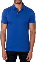 Jared Lang Semi-Fitted Short-Sleeve Cotton-Blend Polo Shirt, Royal