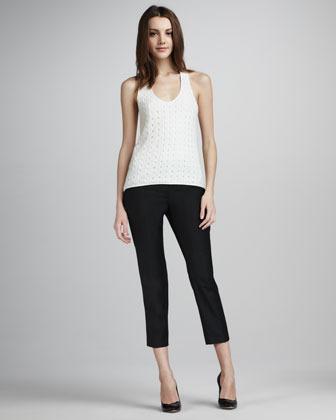 Tibi Mod Cropped Skinny Pants
