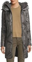 Spyder Women's Pave Silver Fox Fur-Trimmed Down Coat